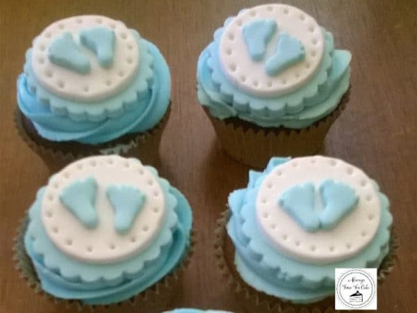 Baby Boy Shower Baby Feet Cupcakes