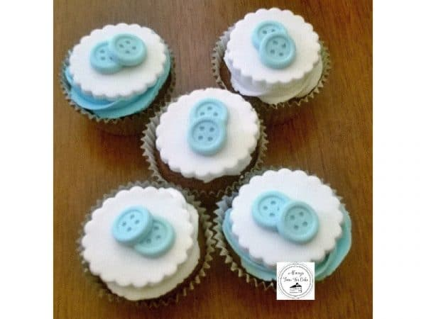 Baby Shower Boy Cute As A Button Cupcakes