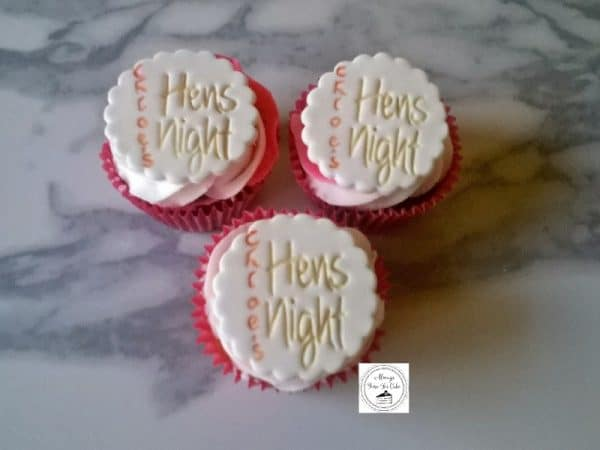 Hen's Night Personalised Cupcakes Chloe's
