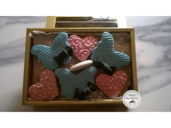 Wedding Favors Boxed Mini Hearts & Butterflies Cookies with Almond