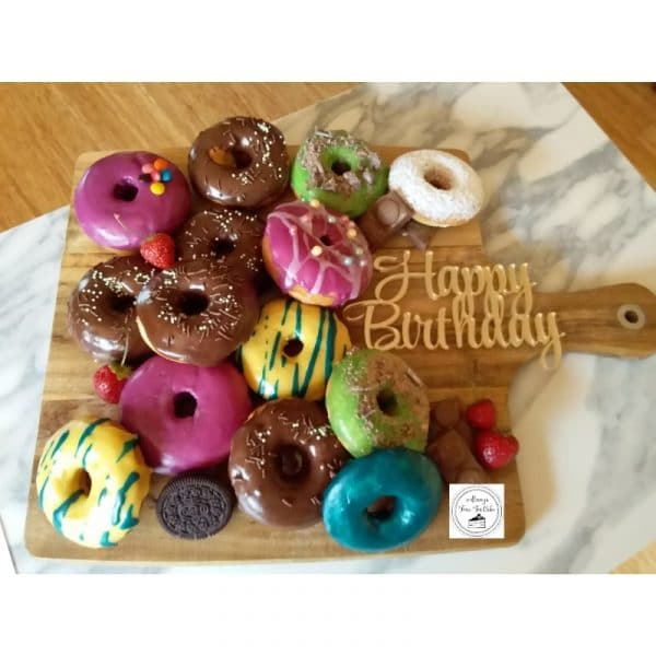 Donuts Platter Birthday Donuts Cake Desserts Sweets