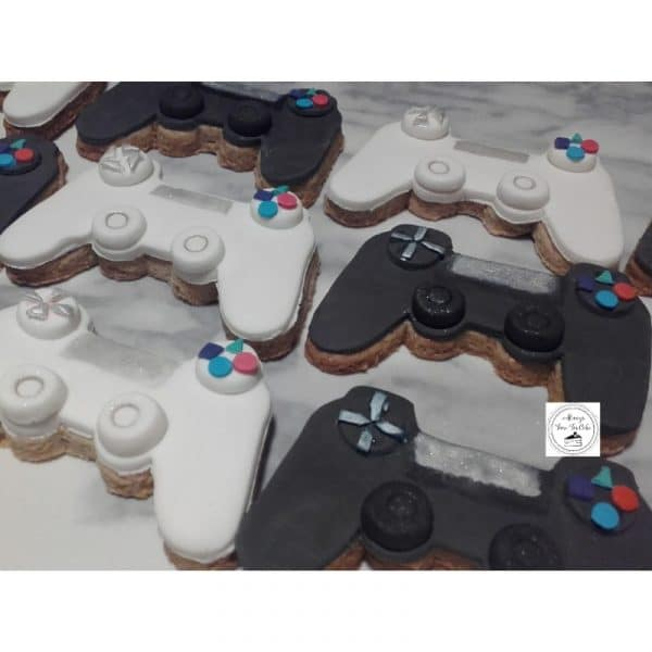 PSP Game Controllers Cookies Birthday Favours Wheat Free