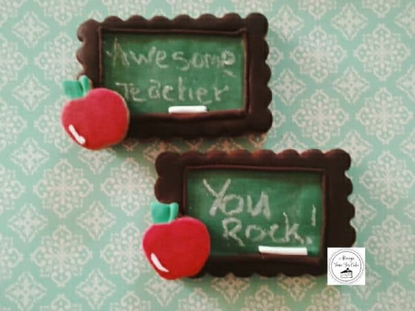 Teacher's Chalkboard Gift Cookies Awesome Teacher &  You Rock! Flavour: Gingerbread