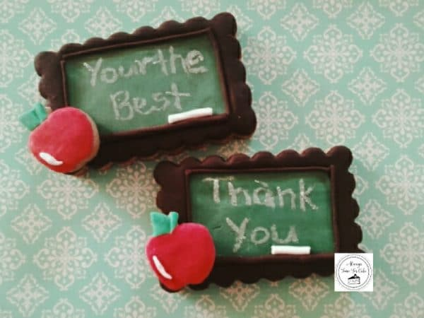 Teacher's Chalkboard Gift Cookies You're The Best & Thank You