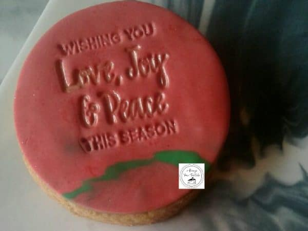 Wishing You Love, Joy & Peace This Season Candy Cane Marble Christmas Cookies
