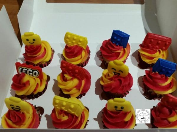 Lego Mini Birthday Cupcakes