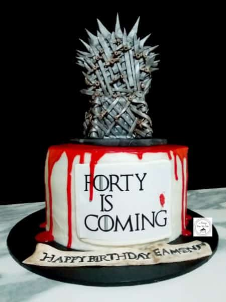 Game Of Throne's 40th Gluten Free White Vanilla  Cake