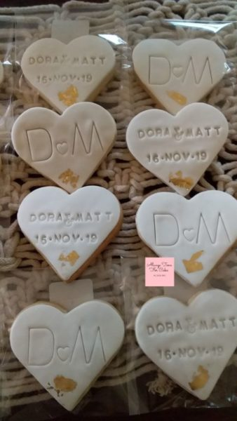 Wedding Engagement Personalised Cookies